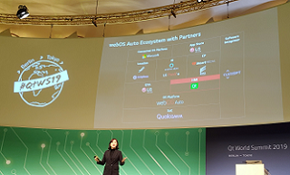 LG delivers keynote speech at Qt World Summit 2019 to talk about the future of connected cars and webOS Auto
