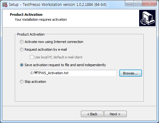 TestPresso Installation for Windows step11-3