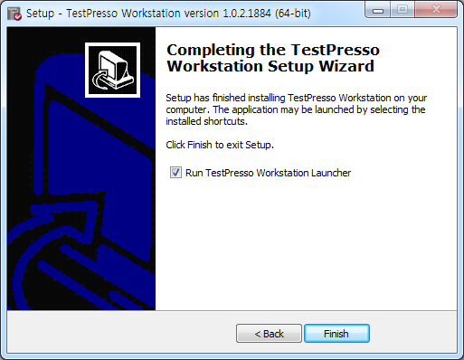 TestPresso Installation for Windows step12