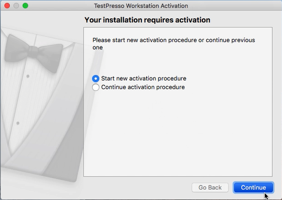 TestPresso Installation for MacOS step3-1