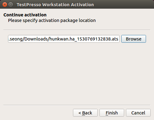 To install TestPresso on Linux, follow the next steps. step6-2
