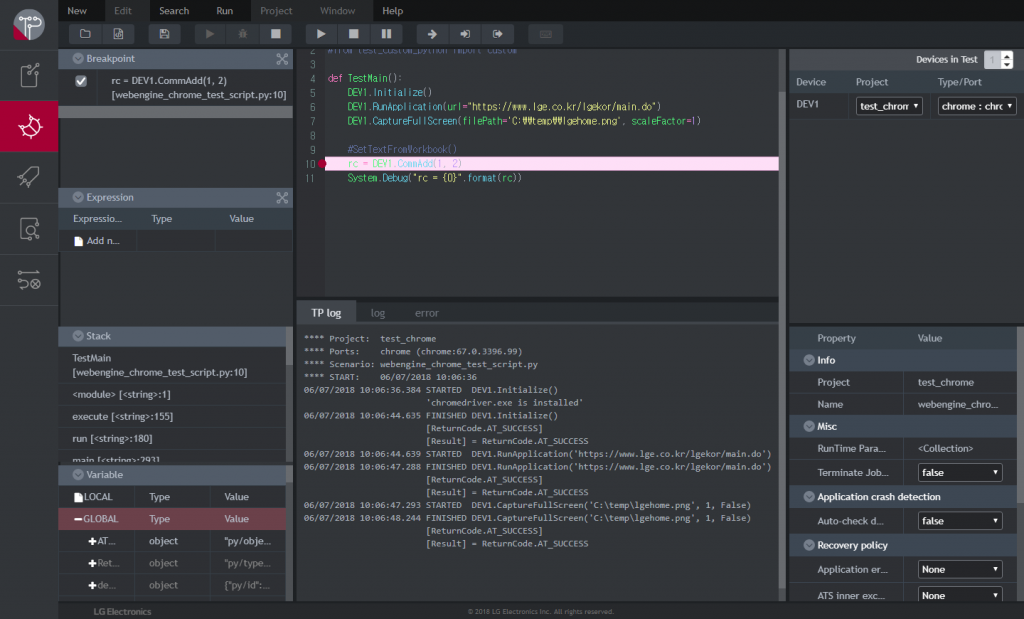 Debugging with Web IDE type3