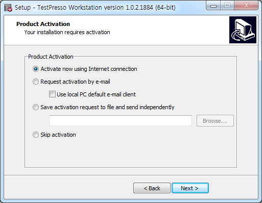 TestPresso Installation for Windows step11-1