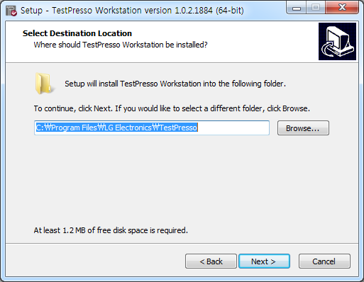 TestPresso Installation for Windows step3